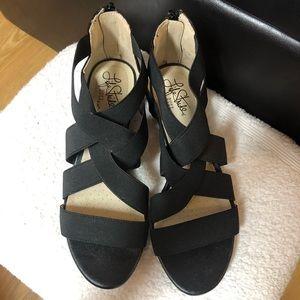 Life Stride nearly new black bandage Sandals